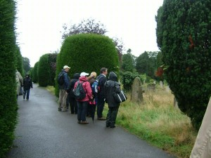 Another picture of Southampton attenders, this time in the cemetery